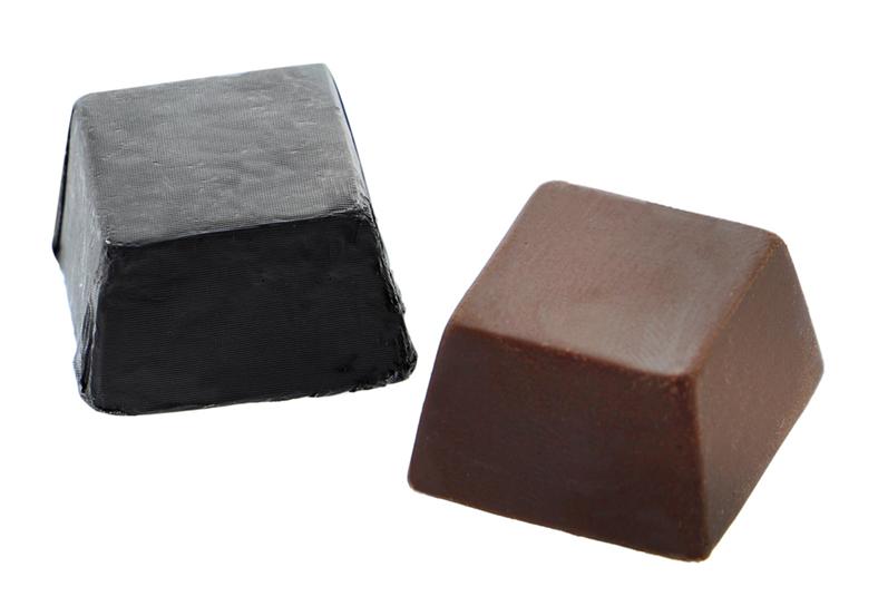 Dark chocolate mini cube